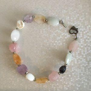Vintage Doncaster Chunky Stone necklace